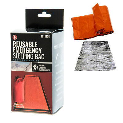 Emergency Outdoor Survival Sleeping Bag Sack Hiking Thermal Blanket Gear Camping