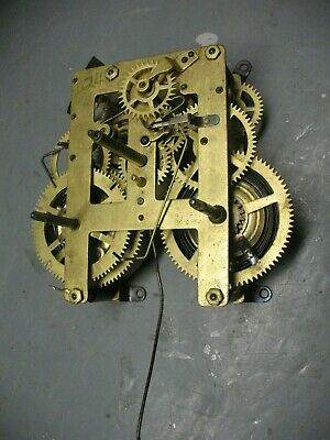 Brass    Clock  Movement  Vintage Numbered B 24   811761 80- 0552B