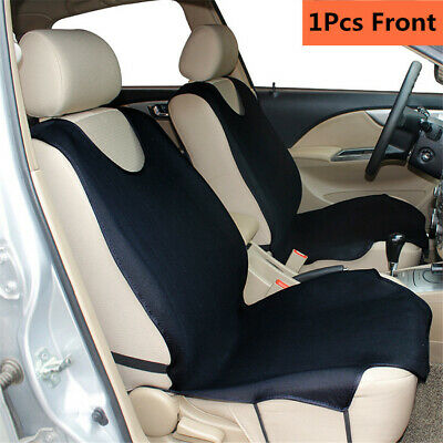 1x Black Car Front Seat Cover Universal Fit Seat Protector T-shirts for Car Seat