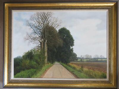 David Smith (1949-) British LARGE SIGNED ORIGINAL Oil Painting EAST HYDE ESSEX