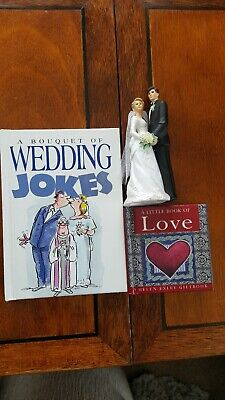 Wedding Set, Cake Figures And Two Books