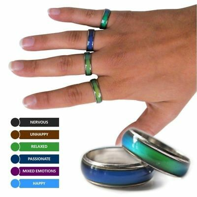 Stainless Steel Change Color Emotional Mood Ring
