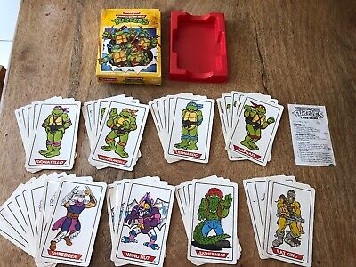 Waddingtons 1990 Complete Vintage Retro Teenage Mutant Hero Turtles Card Game