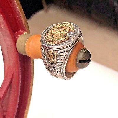 Roman Eagle Fasces Mens Signet Ring Sterling Silver 925 Replica Heavy 24g Nice