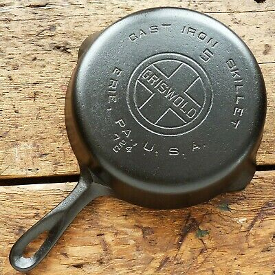 Vintage GRISWOLD Cast Iron SKILLET Frying Pan # 5 LARGE BLOCK LOGO - Ironspoon