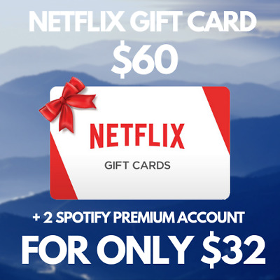Netflix Gift Card $60 | $32 Only | Us & Worldwide | Instant Delivery | Free Gift