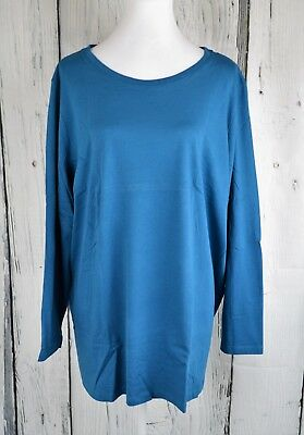 e2a47227c Roaman's Knit Tunic Blouse Top Tee Shirt 3/4 Sleeve Scoop Teal Plus 22/