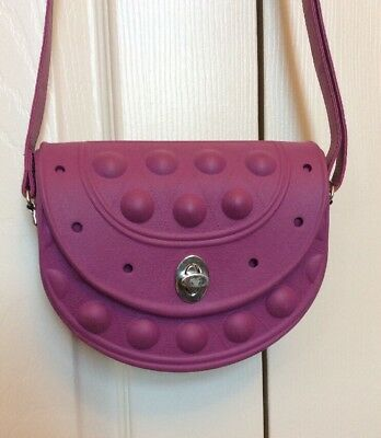 Girls Crocs Cross Body Purse With Adjustable Strap Purple