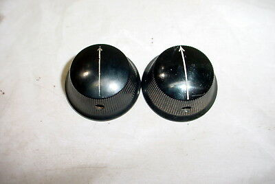 Two Vintage 1920's Black Bakelite Arrow Knob Tube Radio Part