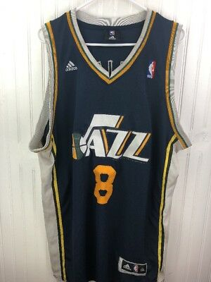 online store 425c3 36b5a Utah Jazz Jersey NBA Throwback Deron Williams 2XL XXL Blue Free Shipping  8  Rare