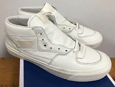 b5073b49210c1c VANS MENS OG Half Cab LX Leather White Off White Marshmallow ...