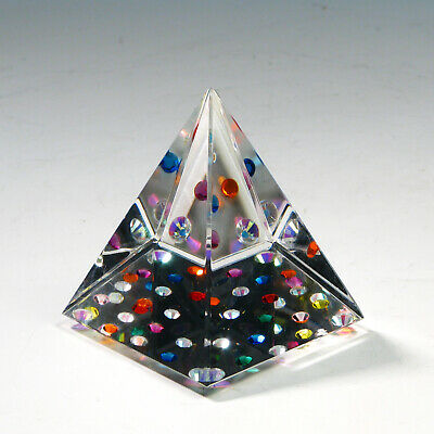 Crystal Pyramid with Multicolored Rhinestones designed by RAY LAPŠYS