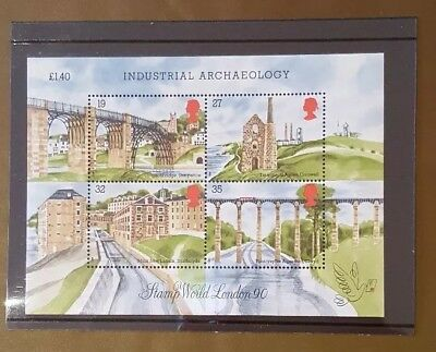 Gb 1989 Ms1444 Industrial Archaeology Miniature Sheet Mnh With Original Card