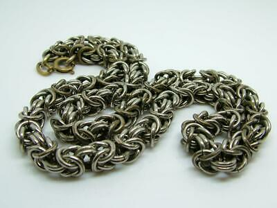 Antique Art Deco Machine Age Jakob Bengel Chunky Knot Chrome Necklace/Chain