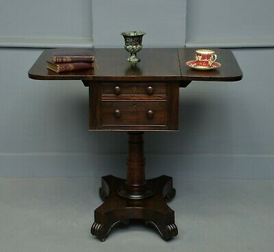 William IV Rosewood Work / Side Table