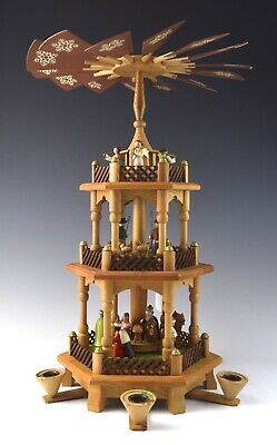"""17"""" German Wooden Christmas Candle Pyramid Whirligig - NO RESERVE - DT-4"""