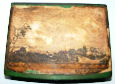 Antique Papier Mache Box