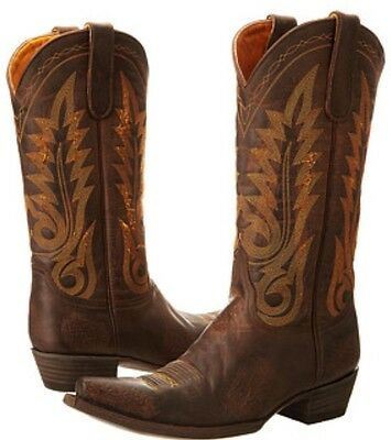 f8d029aa997 NEW OLD GRINGO Nevada Chocolate Brown Leather Womens Cowboy Boot 8.5