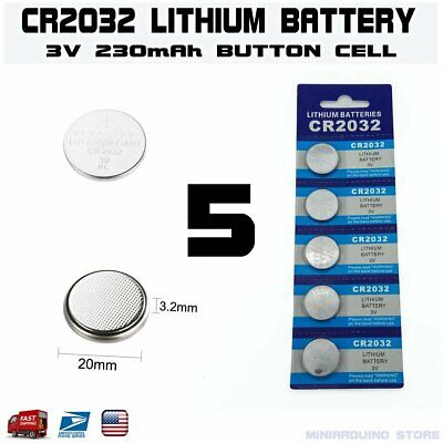 5pcs CR2032 3V Button Battery Cell coin batteries