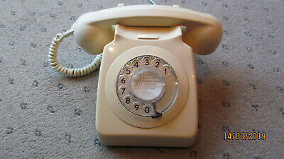 Original Gpo Vintage 746 Ivory Dial Telephone [Converted]Lovely  Phone]
