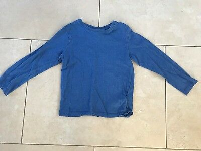 H&M Boys Girls Kids Children Blue Cotton Long-sleeved Shirt Ages 4-6 110-116