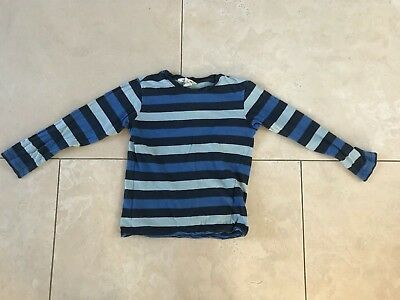 H&M Boys Girls Kids Children Striped Cotton Long-sleeved Shirt Ages 4-6 110-116