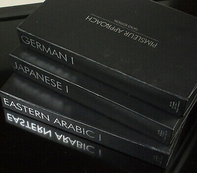 Pimsleur Approach Gold Edition German, Eastern Arabic & Japanese Level 1 CD's