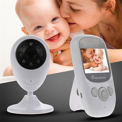Wireless Digital Color LCD Baby Monitor Camera Night Vision Audio Video 2.4GHz E