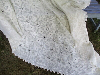 Georgeous Antique Vintage French Lacy Hand Made Bed Cover.Large NEW LOWER PRICE
