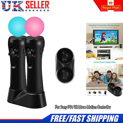 PS3 PS4 Dual Controller Fast Charger Charging Dock Station Stand VR Gamepad USB