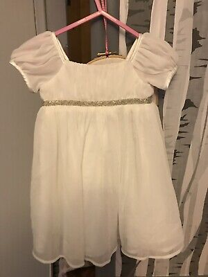 8aed7ba707 Bambini BHS Dress Size 6-9 MontHs Cream Dress Bridesmaid Christening Flower  Girl