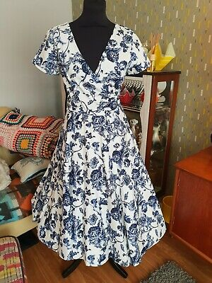 e56de0f14cc1 COLLECTIF CLOTHING BNWT MARIA TOILE SWING DRESS SIZE 10 VINTAGE STYLE FLORAL  50s