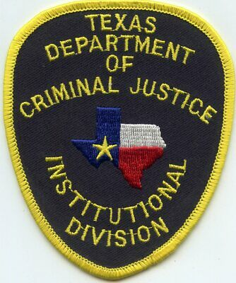 TEXAS TX STATE Department Of Criminal Justice Institutional Div Police Patch