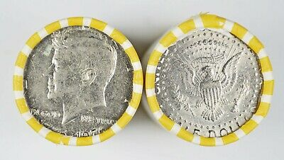 Bank Sealed Half Dollar Rolls Unsearched - Possible Silver Kennedy Franklin