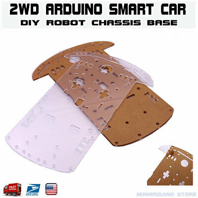 2WD Smart Car Robot Chassis Base Acrylic Plate Kit Arduino MCU