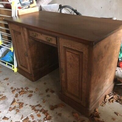 Antique Walnut Burr Antique Desk