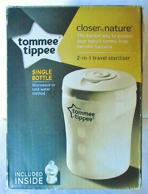 Tommee Tippee Closer To Nature 2 In 1 Travel Steriliser. Bnib.