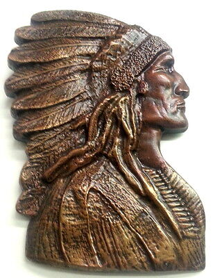 """Large 16"""" American Indian Native Style Chief Headdress Wall Plaque Sculpture New"""