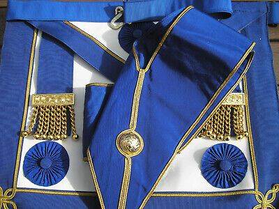 Masonic Provincial Undress Apron With Rosettes And Collar