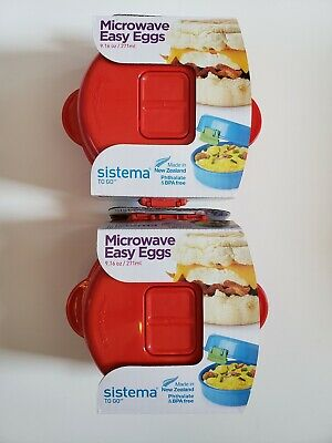 Cookware, Dining & Bar Sistema Red Microwave Easy Eggs Egg Omelette Maker 18001117 Wide Selection; Home, Furniture & Diy