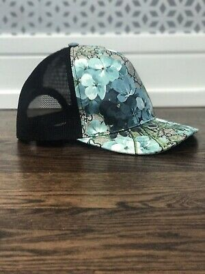 1ce772369b1d3 GUCCI GG Supreme Monogram Blooms Print Baseball Hat XL Blue brand New dust  bag!