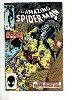 Amazing Spider-Man #265 1 ST APP SILVER SABLE (MOVIE COMING!) Fn 6.0 Marvel 194