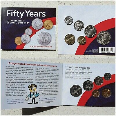 2016 Australian Change Over Currency.  6 Coin Uncirculated Mint Year Set.