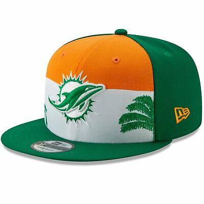 hot sale online 07fe7 754d6 Miami Dolphins Hat 2019 NFL Draft Spotlight 9FIFTY Adjustable New Era  Snapback