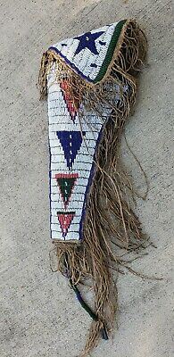Antique 1800s Native American Indian Beaded Holster late 1800s early 1900s. Colt