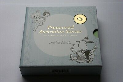 2018 One Dollar Treasured Australian Stories 2-coin set. Royal Australian Mint.