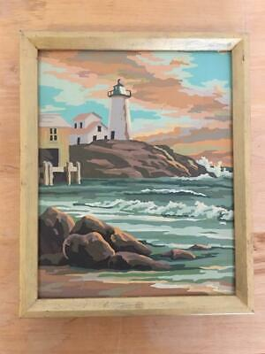 Vintage Paint by Numbers Framed Lighthouse