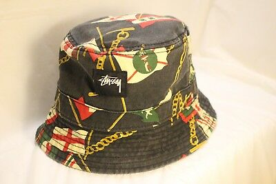 0c721e85971b5 Stussy Capz Bucket Hat Floppy Cap Multi-colored factory destressed Men s SM