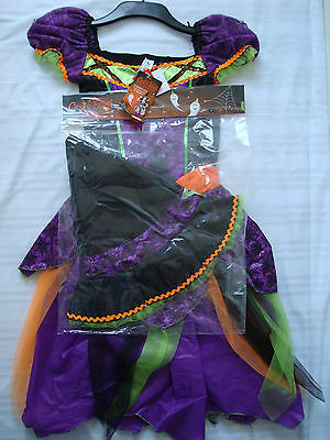 NWT Halloween Fancy Dress Costume Witch Spider Cobweb Tights Age 11-14 Years A35