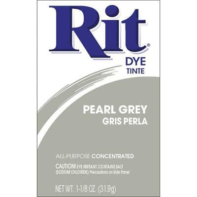 REDUCED * RIT FABRIC DYE Some powder has leaked still over 30g in pack PEARL GRY